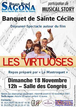 """Banquet de la Sainte Cécile : spectacle                     """"Les Virtuoses"""""""