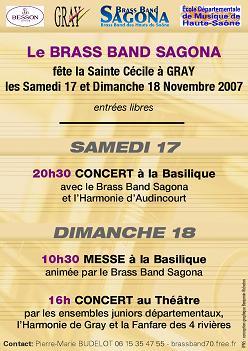 Brass                     band Sagona - concert Sainte Cécile
